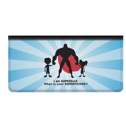 Super Dad Genuine Leather Checkbook Cover