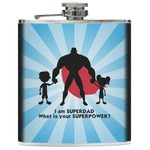 Super Dad Genuine Leather Flask