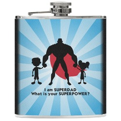 Super Dad Genuine Leather Flask