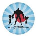 Super Dad Round Desk Weight - Genuine Leather