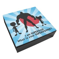 Super Dad Leatherette Keepsake Box - 8x8