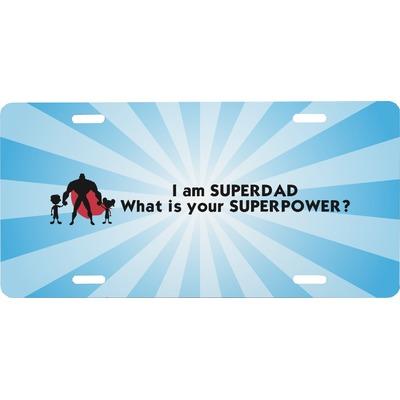 Super Dad Front License Plate