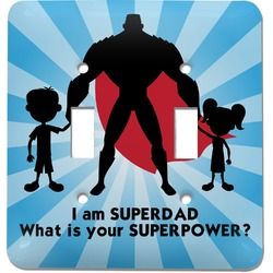 Super Dad Light Switch Cover (2 Toggle Plate)