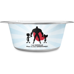Super Dad Stainless Steel Pet Bowl