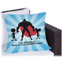 Super Dad Outdoor Pillow