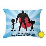 Super Dad Outdoor Throw Pillow (Rectangular)