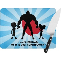 Super Dad Rectangular Glass Cutting Board