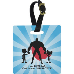 Super Dad Square Luggage Tag