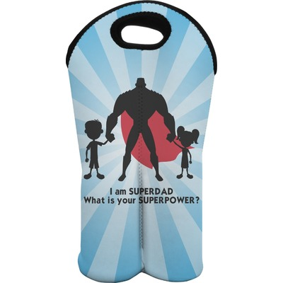 Super Dad Wine Tote Bag (2 Bottles)