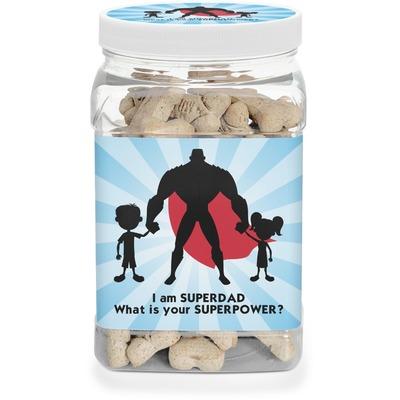 Super Dad Dog Treat Jar