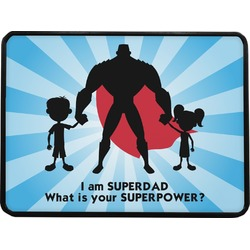 "Super Dad Rectangular Trailer Hitch Cover - 1.25"""