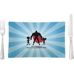 Super Dad Glass Rectangular Lunch / Dinner Plate - Single or Set