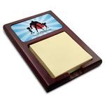 Super Dad Red Mahogany Sticky Note Holder
