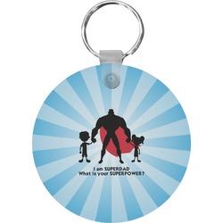 Super Dad Round Keychain