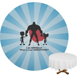 Super Dad Round Tablecloth