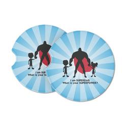 Super Dad Sandstone Car Coasters