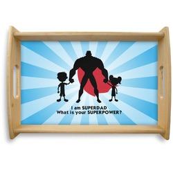 Super Dad Natural Wooden Tray