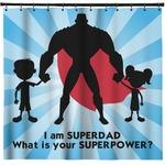 Super Dad Shower Curtain