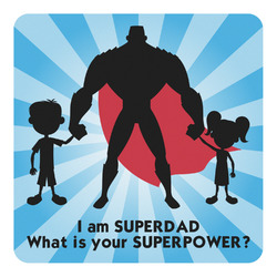 Super Dad Square Decal - Custom Size