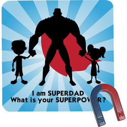 Super Dad Square Fridge Magnet