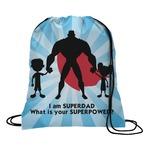 Super Dad Drawstring Backpack