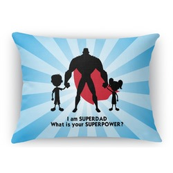 Super Dad Rectangular Throw Pillow Case