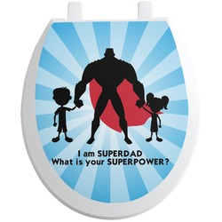 Super Dad Toilet Seat Decal