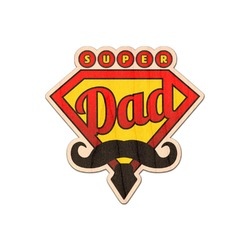 Super Dad Genuine Maple or Cherry Wood Sticker