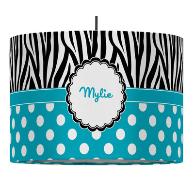 Dots & Zebra Drum Pendant Lamp (Personalized)