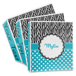 Dots & Zebra 3-Ring Binder (Personalized)