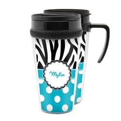 Dots & Zebra Acrylic Travel Mugs (Personalized)