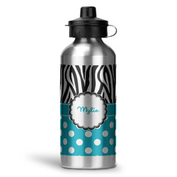 Dots & Zebra Water Bottle - Aluminum - 20 oz (Personalized)