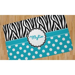 Dots & Zebra Area Rug (Personalized)