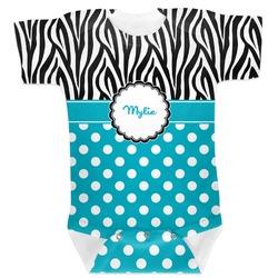Dots & Zebra Baby Bodysuit 3-6 (Personalized)