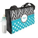 Dots & Zebra Diaper Bag w/ Name or Text