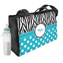 Dots & Zebra Diaper Bag (Personalized)