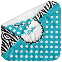 Dots & Zebra Baby Hooded Towel (Personalized)