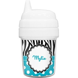 Dots & Zebra Baby Sippy Cup (Personalized)