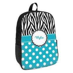 Dots & Zebra Kids Backpack (Personalized)