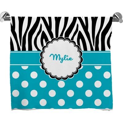 Dots & Zebra Bath Towel (Personalized)