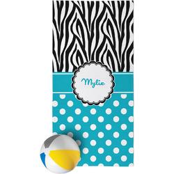 Dots & Zebra Beach Towel (Personalized)