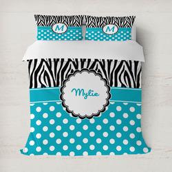 Dots & Zebra Duvet Cover (Personalized)