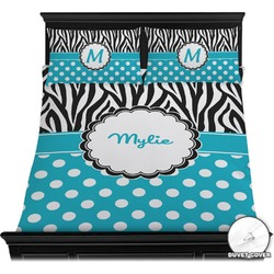 Dots & Zebra Duvet Cover Set (Personalized)