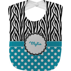 Dots & Zebra Baby Bib (Personalized)