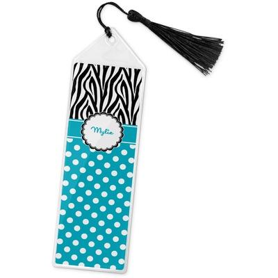 Dots & Zebra Book Mark w/Tassel (Personalized)