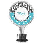 Dots & Zebra Wine Bottle Stopper (Personalized)
