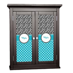 Dots & Zebra Cabinet Decal - XLarge (Personalized)