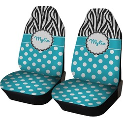 Dots & Zebra Car Seat Covers (Set of Two) (Personalized)