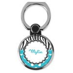 Dots & Zebra Cell Phone Ring Stand & Holder (Personalized)