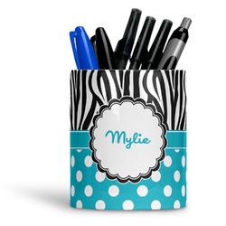 Dots & Zebra Ceramic Pen Holder